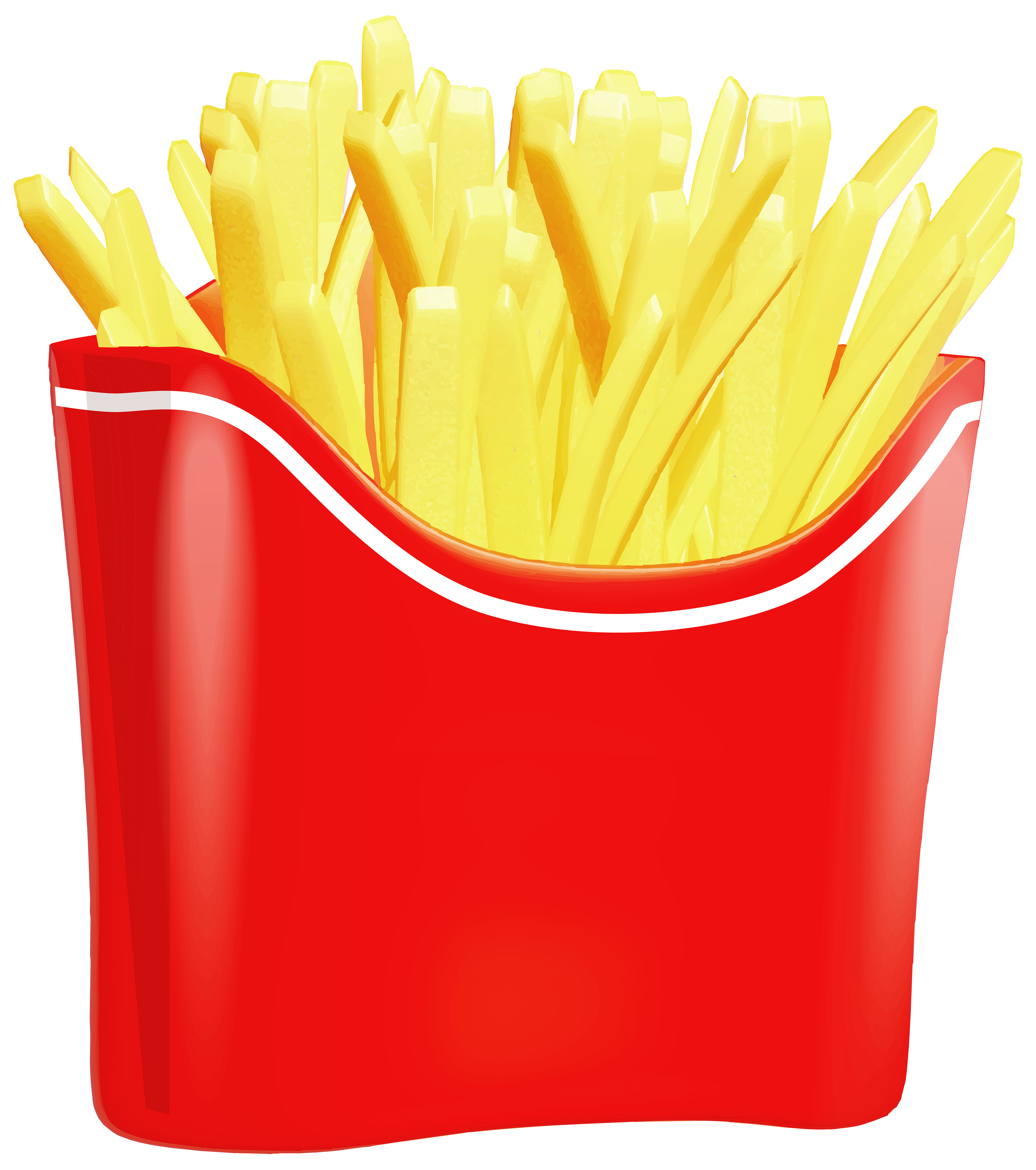 4000x4517 French Fries Clip Art