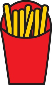 185x300 French Fries Clipart