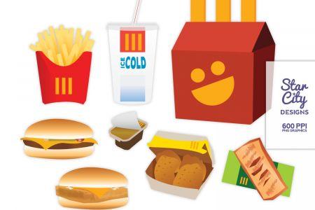 450x300 Mcdonald's Fast Food Clip Art