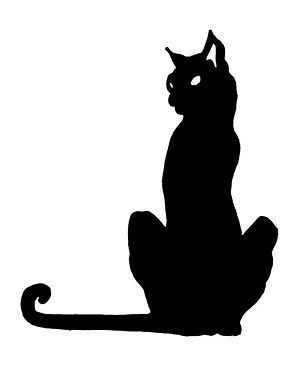 300x374 Creepy Clipart Mean Cat
