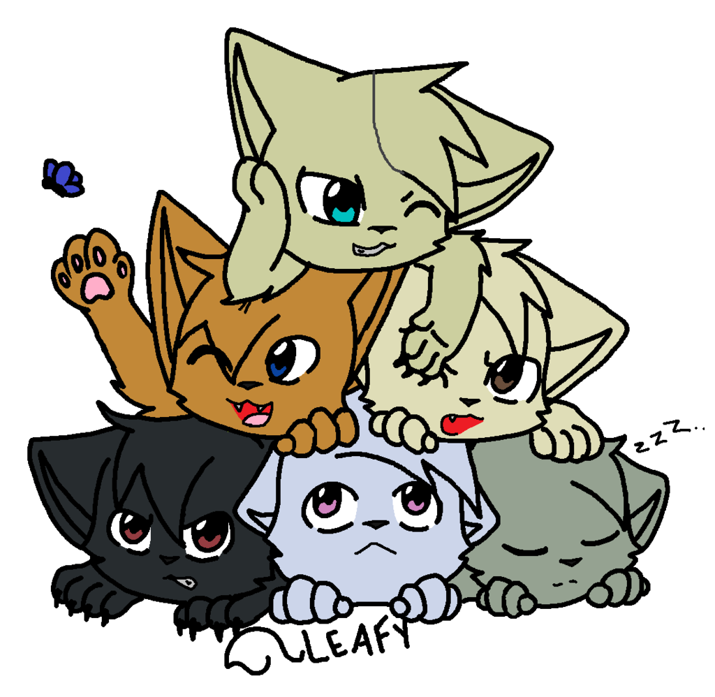1024x998 Dogpi I Mean Cat Pile! By Littleshadow3