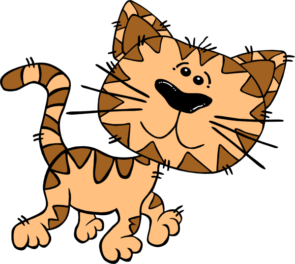 600x536 Animated Cat Clipart