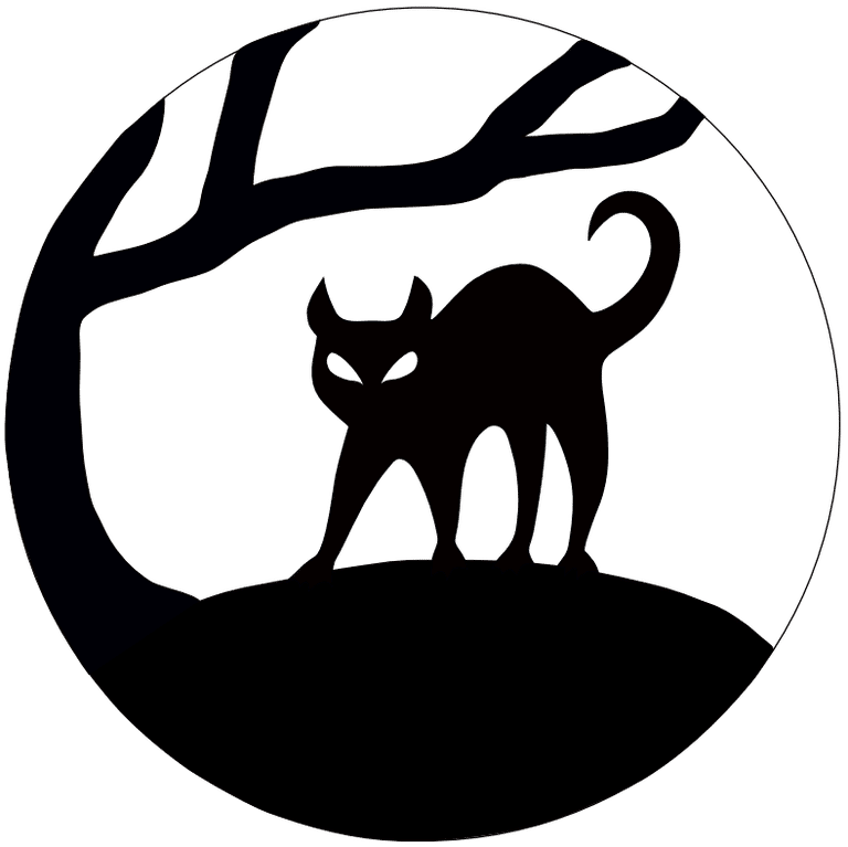 768x767 Horror Clipart Mean Cat