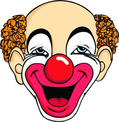 409x419 Clown Clipart Mean