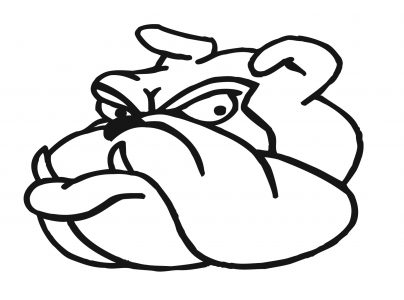 404x300 Coloring Pages Fancy Bulldog Face Drawing Clip Art Dromggb Top