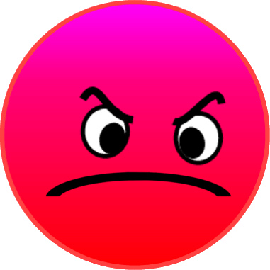 381x381 Expression Clipart Angry Face