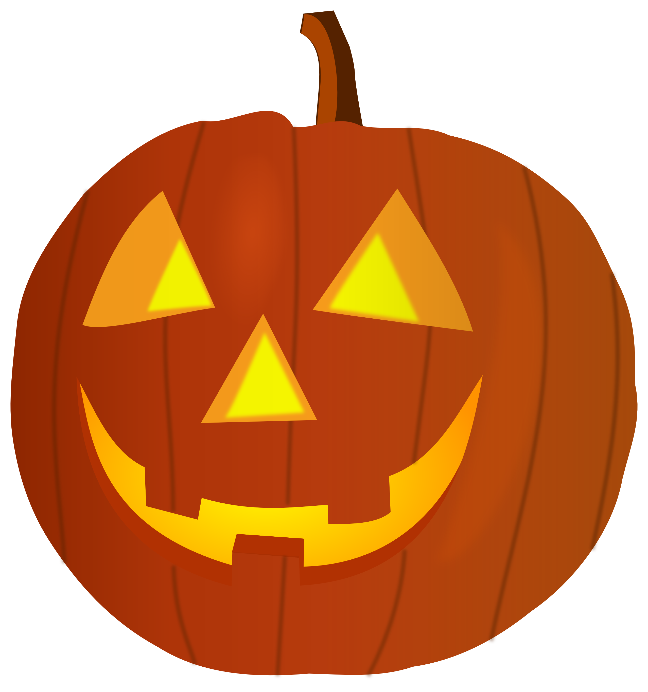 2555x2730 Mean Pumpkin Face