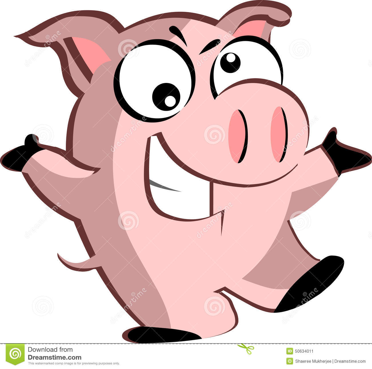 1300x1290 Pig Clipart Mean