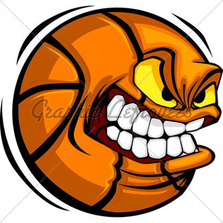 325x325 Vector Cartoon Soccer Ball With Mean Face And Sharp Teeth Gl