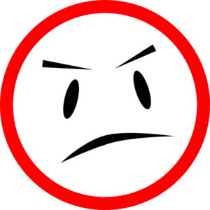 300x300 Cliparts Mean Face 193539