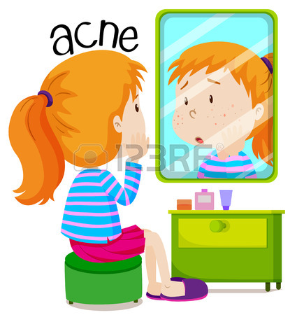 425x450 Girl With Head Lice Jumping In Her Head Illustration Royalty Free