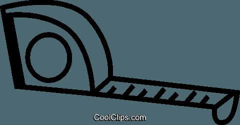 480x250 Tape Measure Royalty Free Vector Clip Art Illustration Vc074220