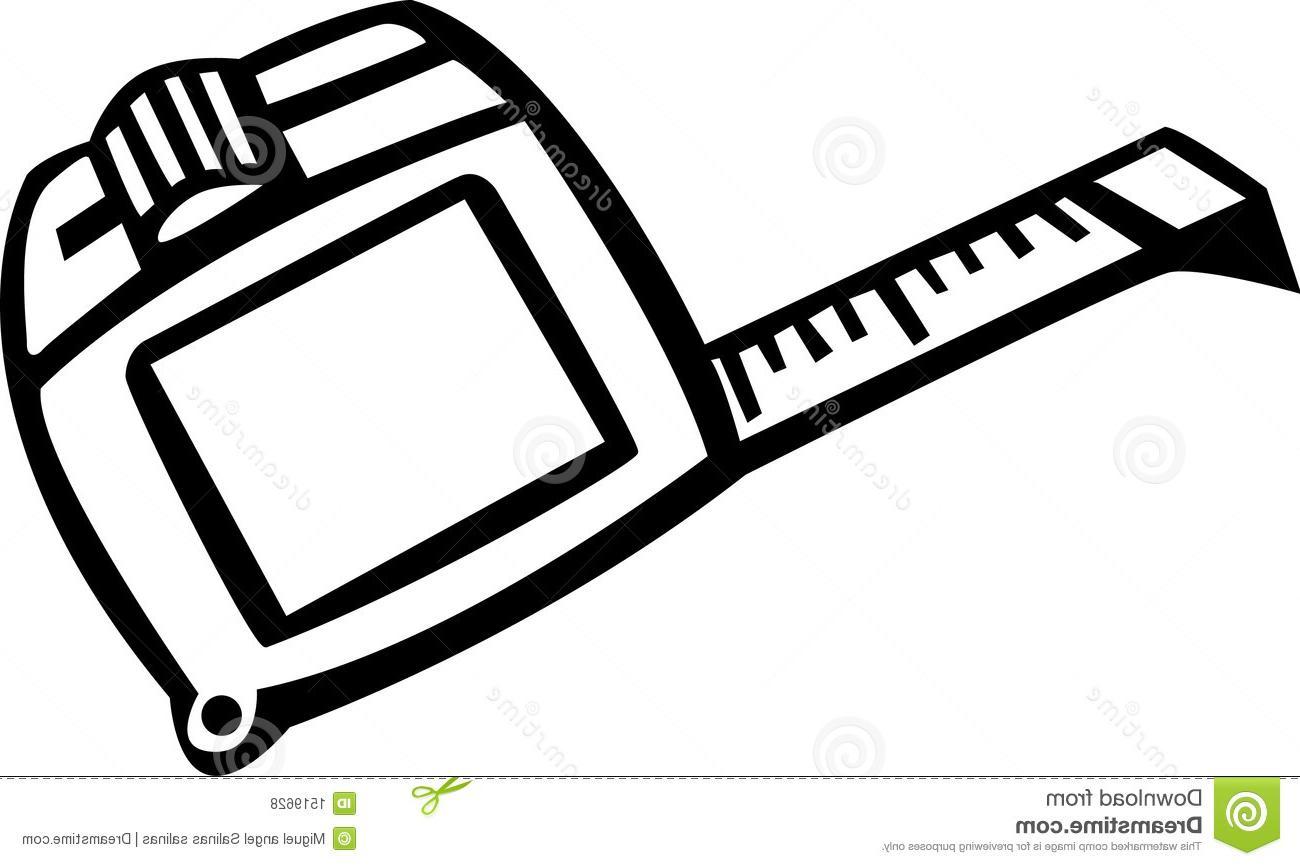 1300x866 Unique Ruler Clipart Tape Measure Vector Illustration Images