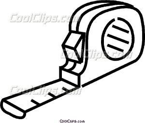 300x255 Tape Measure Vector Clip Art
