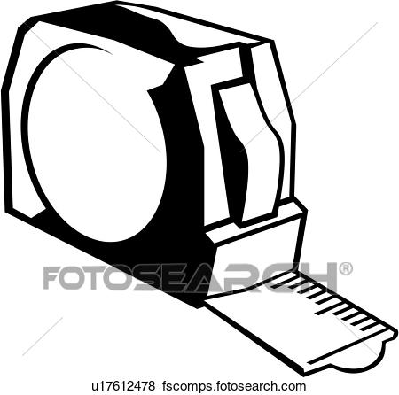 450x446 Clip Art Of , Tape Measure, Tool, Measuring, U17612478