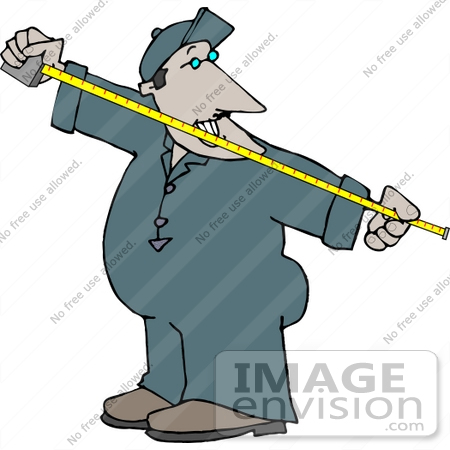 450x450 Man Using A Tape Measure Clipart