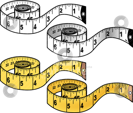 450x380 Measuring Tape Black And White Clipart