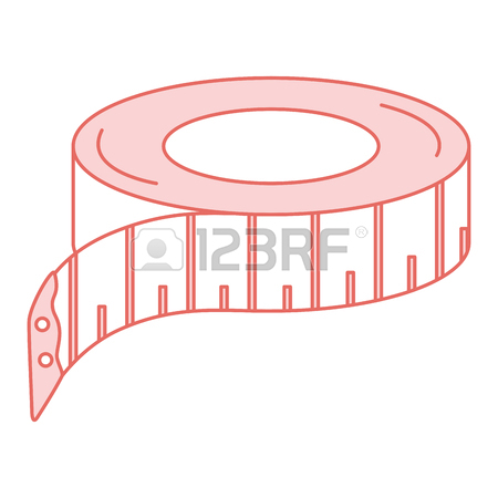 450x450 Sewing Tape Measure Icon Vector Illustration Design Royalty Free