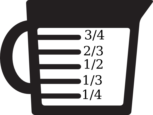 600x453 Measuring Cup Basic Units Clip Art