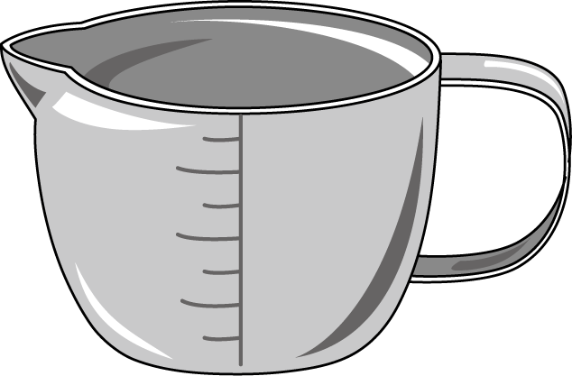 634x417 Measuring Cup Clipart