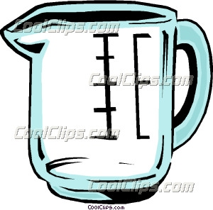 300x296 Measuring Cup Clip Art
