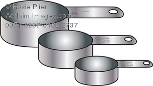 300x169 Art Illustration Of A Set Of Metal Measuring Cups