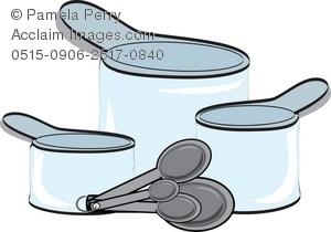 300x210 Art Illustration Of Plastic Measuring Cups