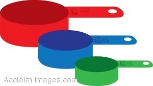 300x168 Clip Art Of Of A Set Of Measuring Cups