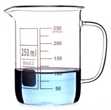 390x388 Beaker Amp Handle (Borosilicate Glass) 250ml