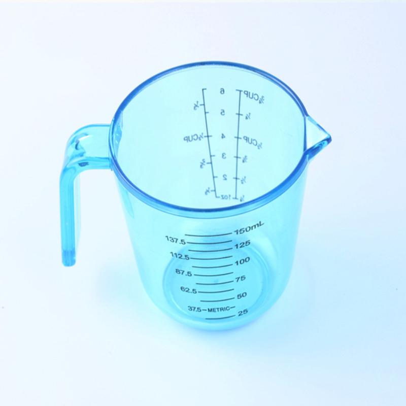 800x800 2pcs Measuring Cups Food Thick Plastic Transparent Scale