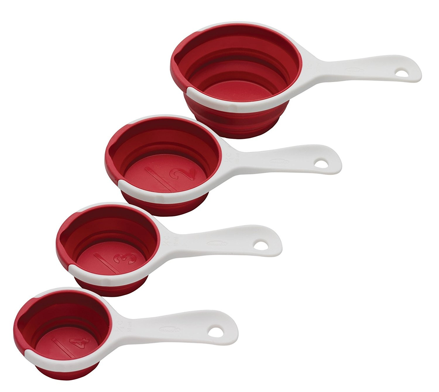 1500x1337 Chef'N Pinch Amp Pour 102250005 Collapsible Measuring Cups, Cherry