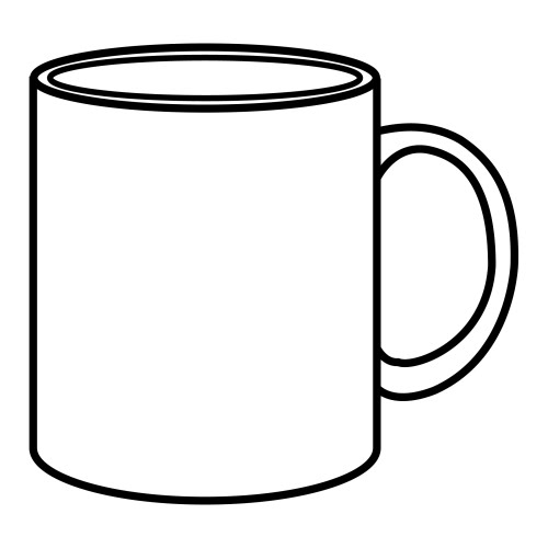 500x500 Cup Clipart Coloring