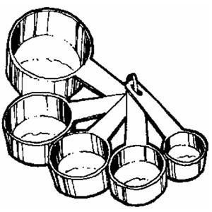 300x300 Measuring Cups And Spoons Clipart Collection