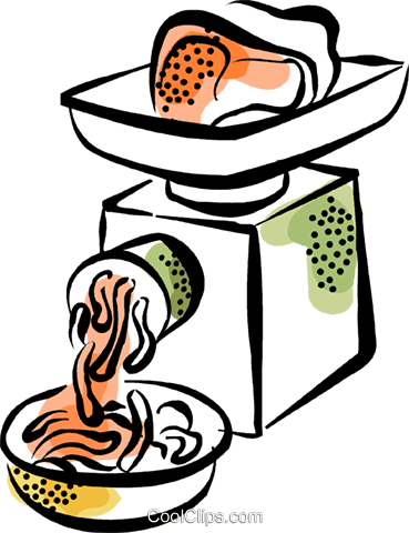 369x480 Ground Meat Royalty Free Vector Clip Art Illustration Vc070350