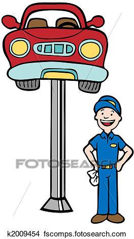 264x470 Drawings Of Auto Mechanic Car Lift K2009454