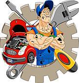 162x170 Mechanic Clip Art