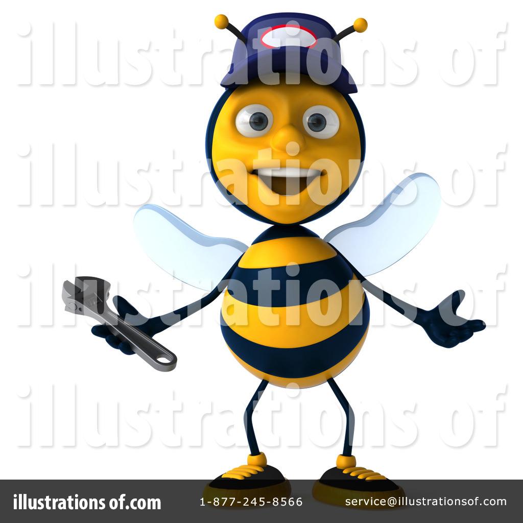 1024x1024 Bee Mechanic Clipart