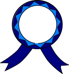 282x299 Blue And White Medal Clip Art
