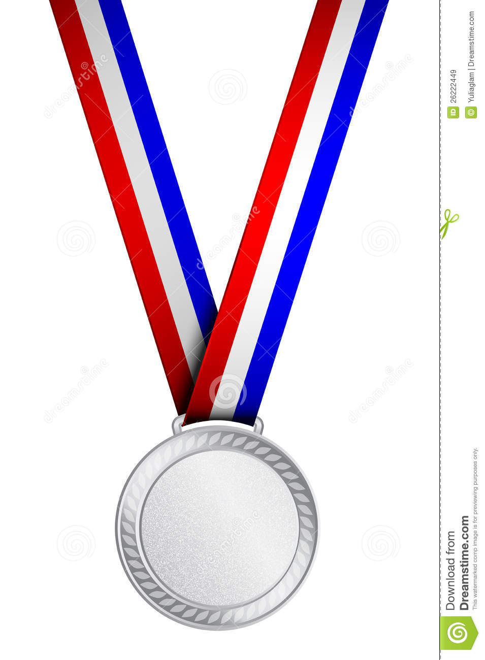 955x1300 Silver Medal Clipart