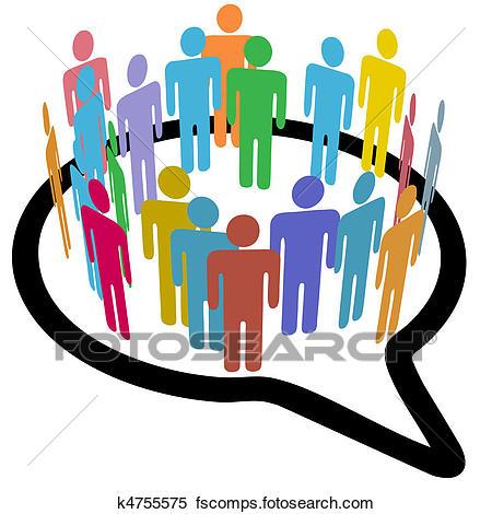 450x470 Clipart Of Social Media People Inner Circle Speech Bubble K4755575