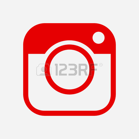 450x450 Photo Camera Icon.social Media Sign Simbol. Hipster Camera