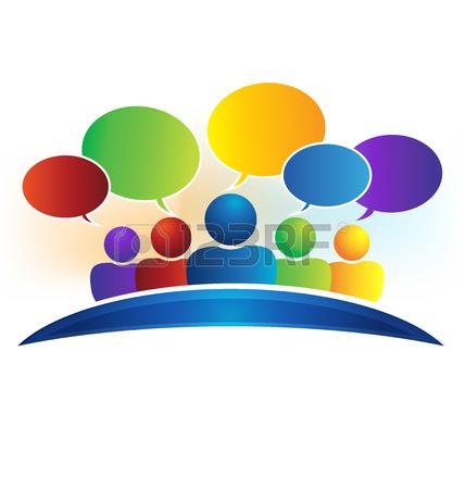 428x450 Business Social Media Network Speech Bubbles Logo (Talking