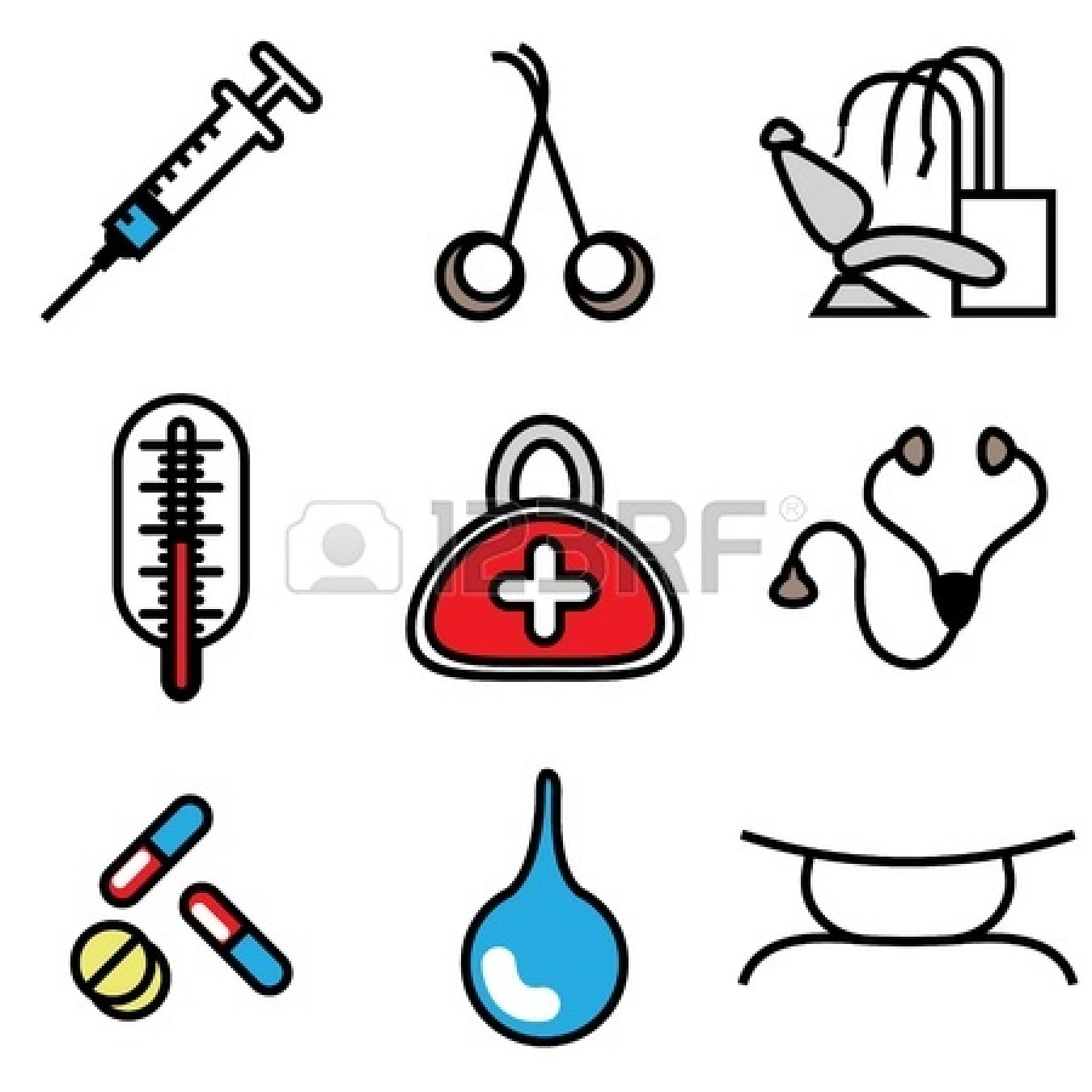 1350x1350 Medical Tools Icons Vector Set Clipart Panda