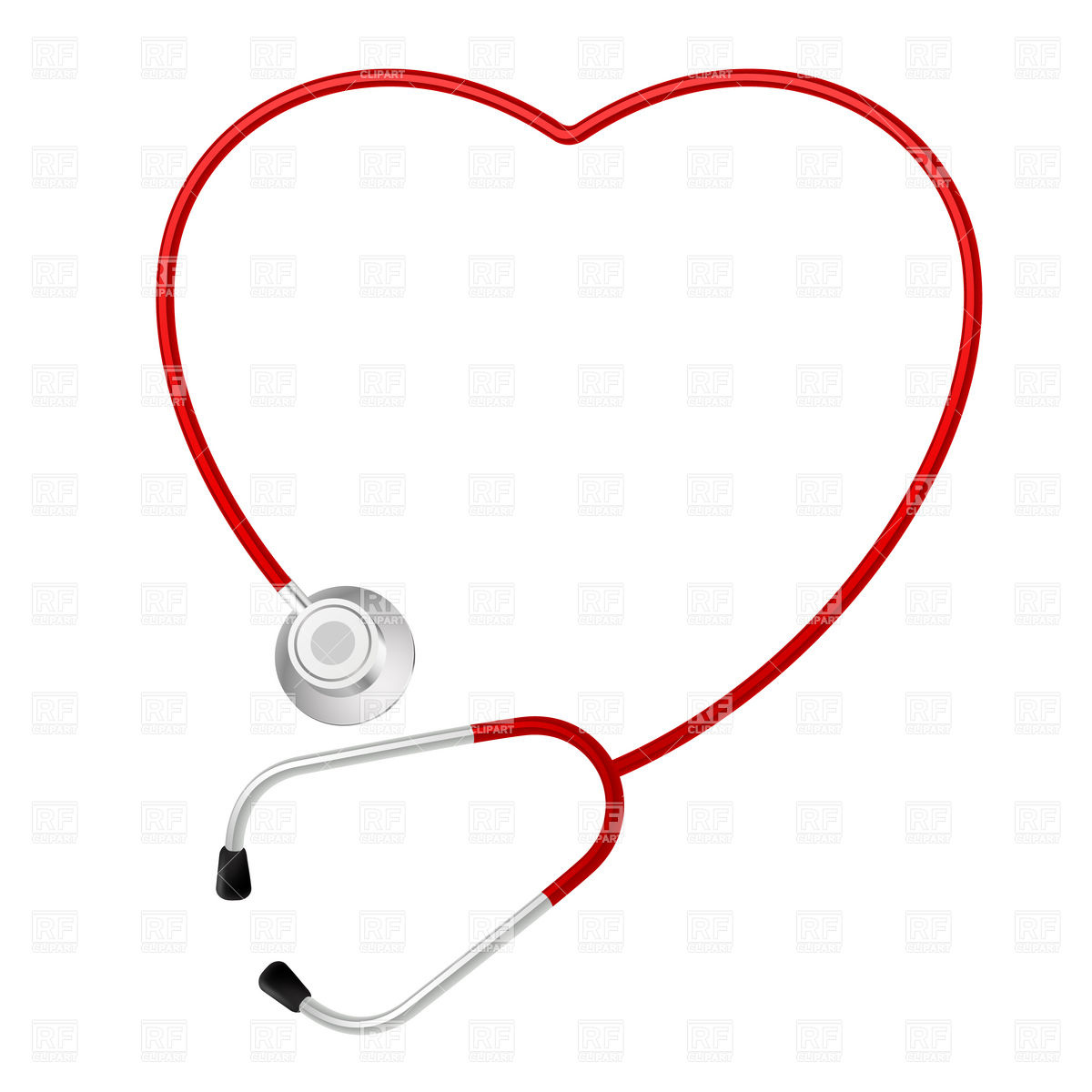 1200x1200 Heart Shaped Stethoscope Royalty Free Vector Clip Art Image