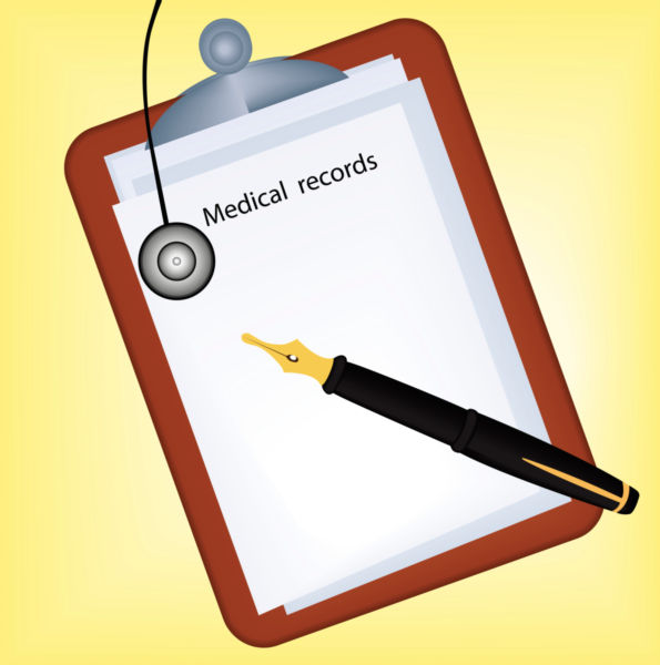 595x600 Vector Image Of A Medical Record.