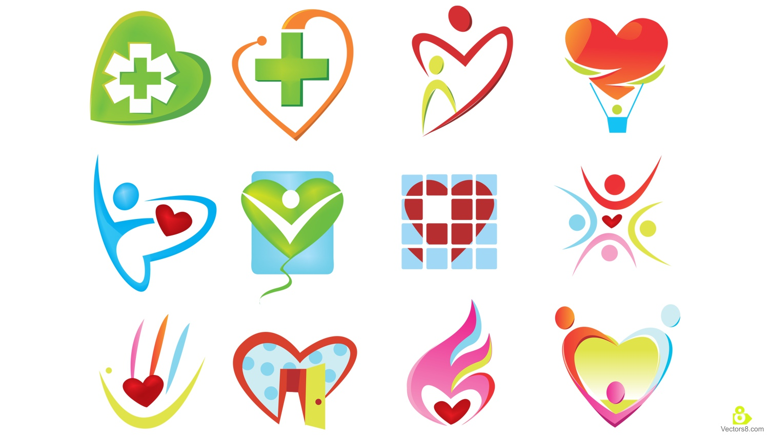 1500x850 Set Of Medical Logos Free Vector Amp Clipart Design