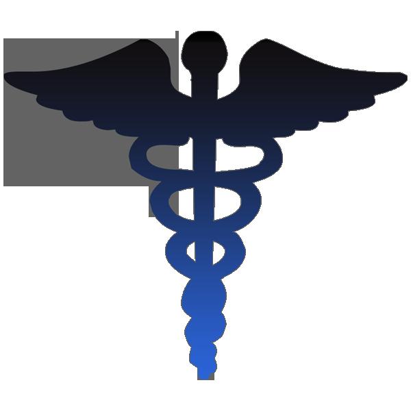 600x600 Caduceus Medical Symbol Blue Clipart Image