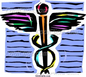 300x269 Caduceus Medical Symbol Vector Clip Art