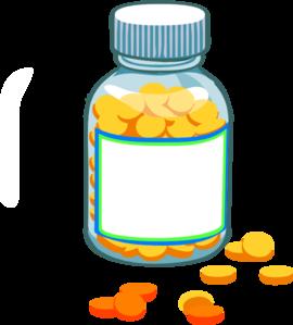 270x299 Blank Pill Bottle Clip Art