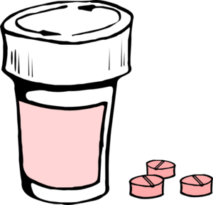 300x288 Pink Medication Clip Art